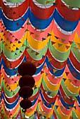 Потолки, декорированные тканью