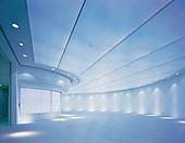 Натяжной потолок в большом помещении