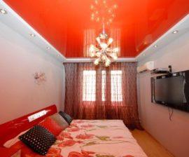 Натяжные потолки, как элемент дизайна интерьера квартиры в Москве